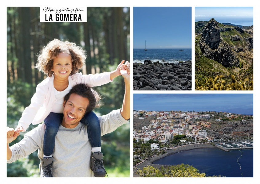 Personalizable greeting card from La Gomera - the Canary Islands with photographies of the nature and landscape