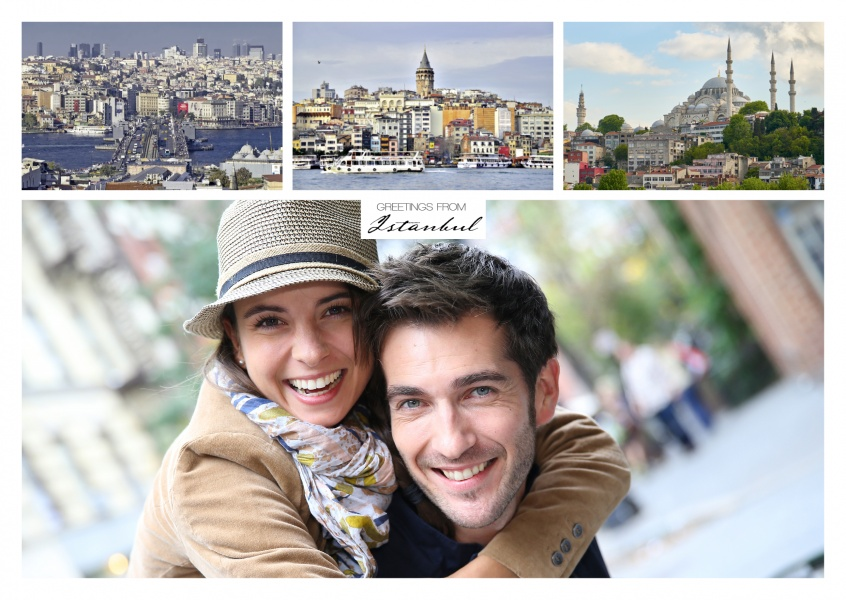 istanbul triple collage with white frame