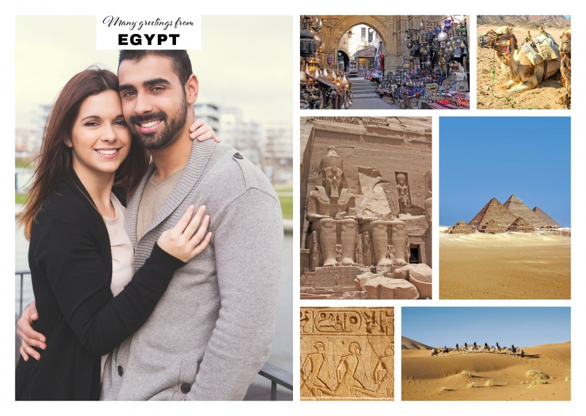 multipicture photocollage of egypt
