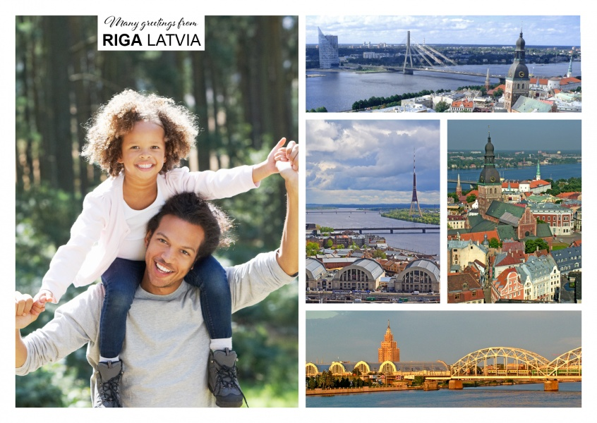 multipicture photocollage von riga in latvia