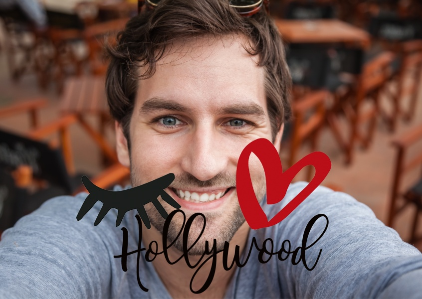 Illustration Eye-love Hollywood personalisierbar