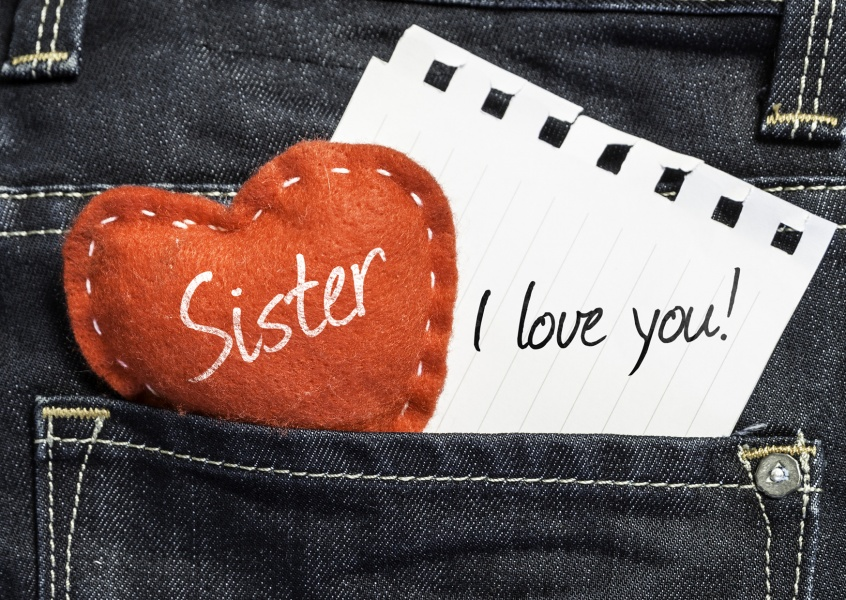 jeans heart paper sister i love you