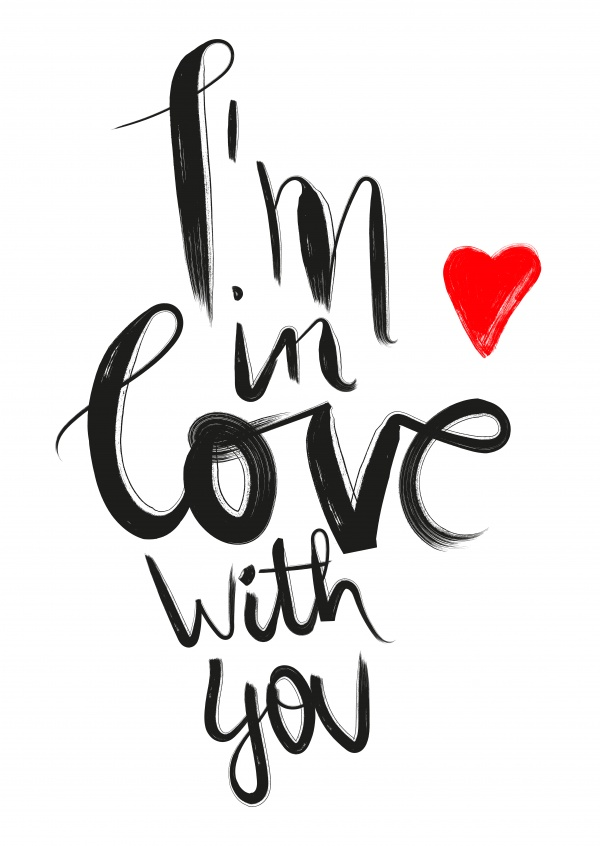 i´m in love with you spruch postkarte design