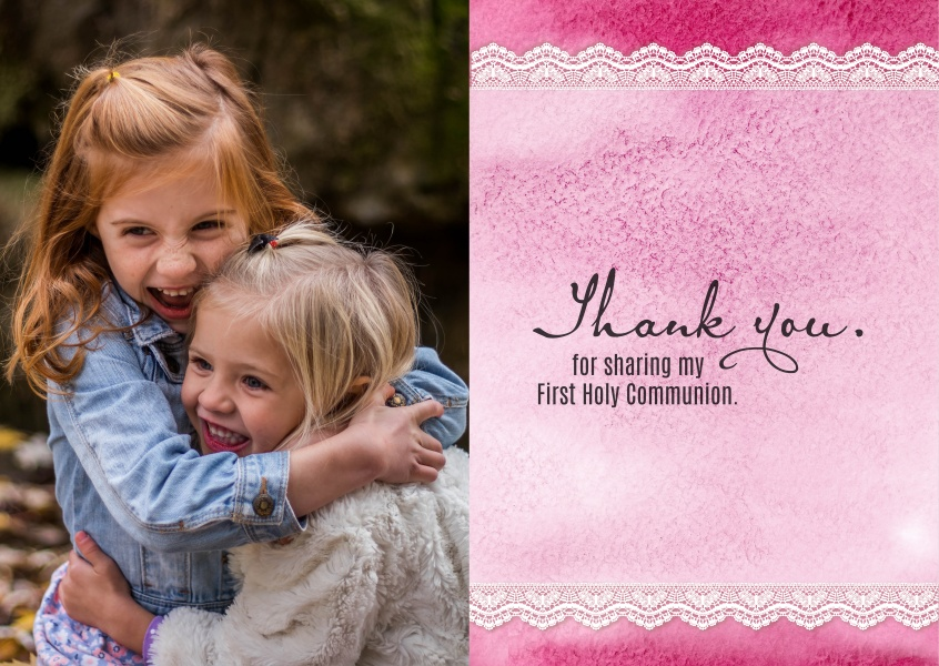 Thank you for sharing my First Holy Communion
