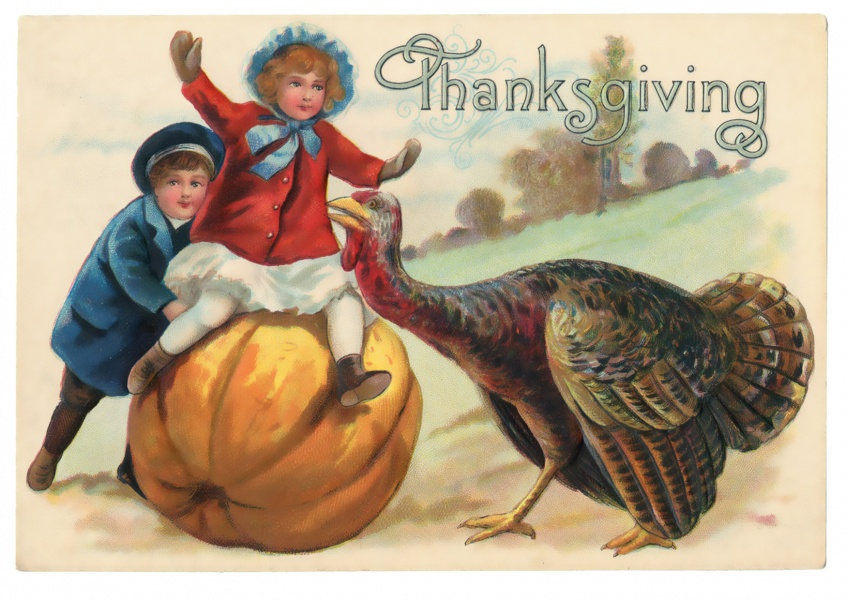 vintage Illustration Thanksgiving