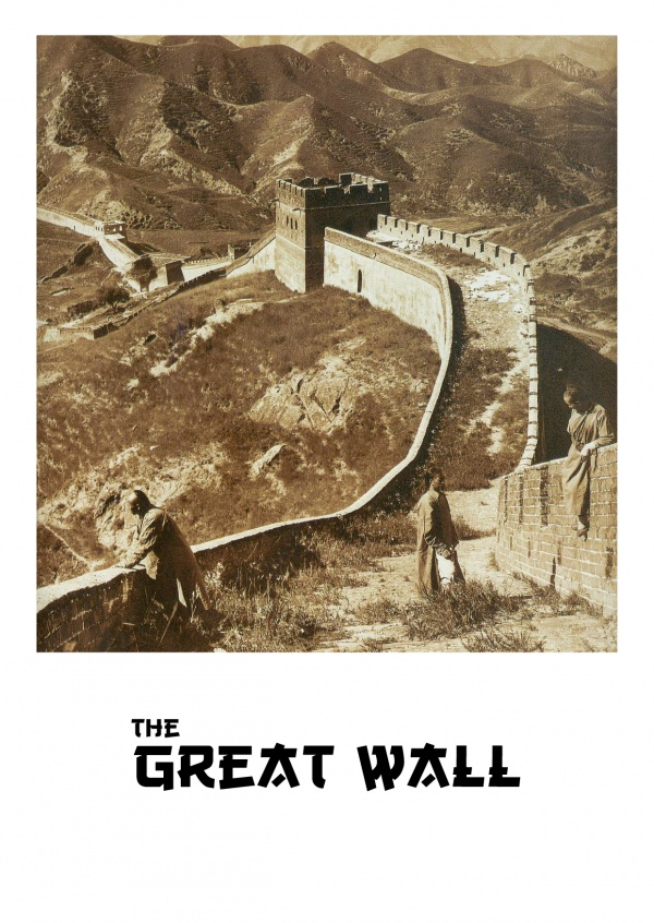 vintage photo Great Wall in China