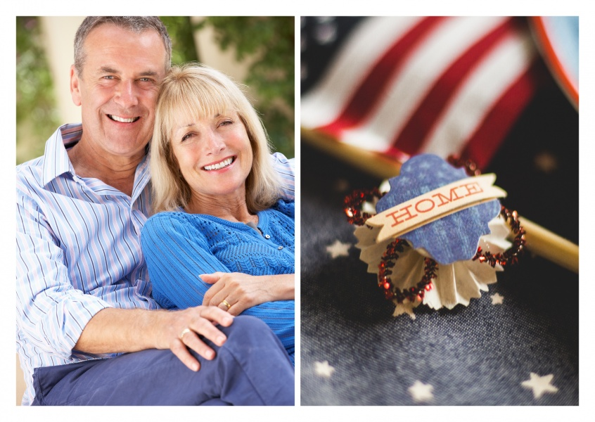 Foto brooch US Flagge home