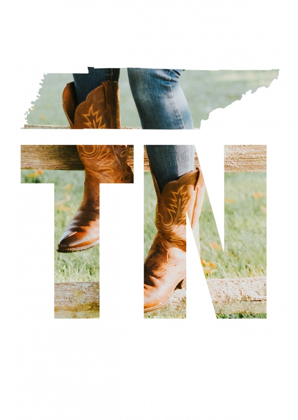 photo woman's legs in cowboy boots sitting on a fence