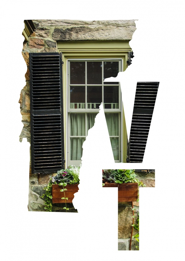 photo of a typical old window in Vermont