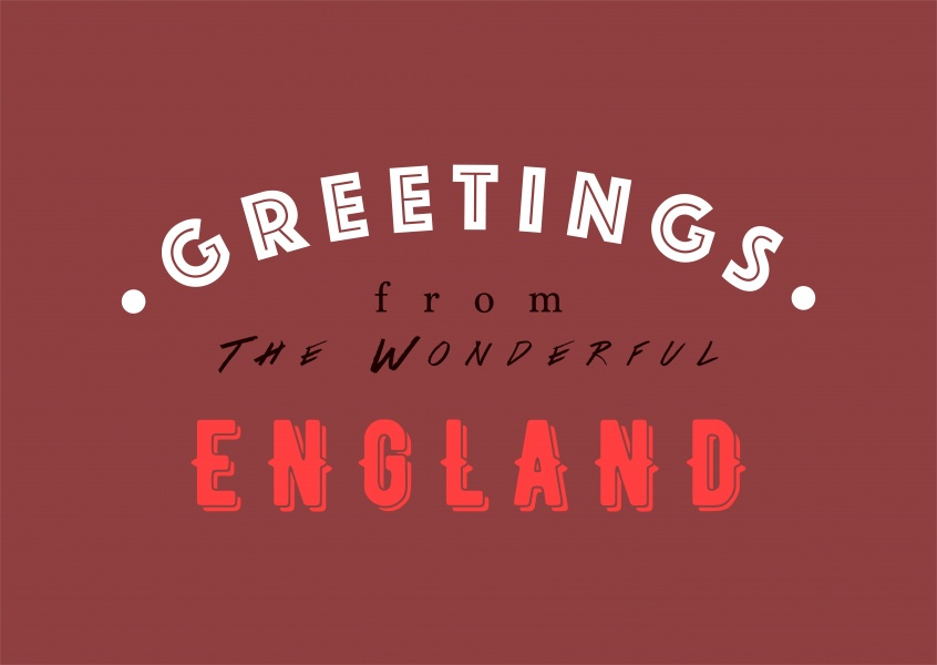 Greetings from the Wonderful England