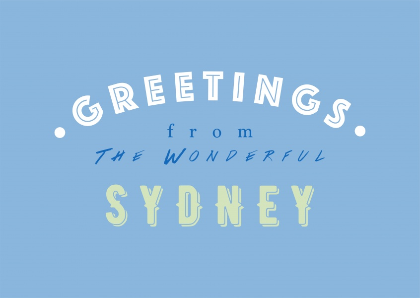 Greetings from the wonderful Sydney