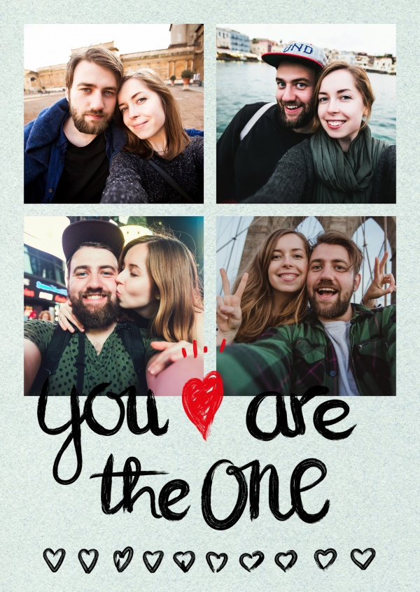 You are the one, heart & arrow in crayon handwriting