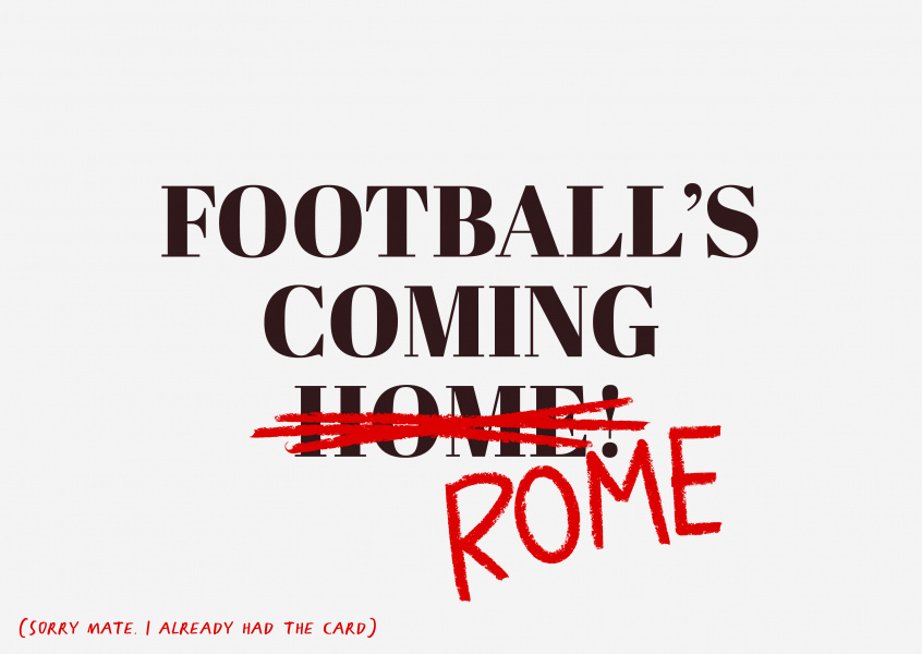 Football's coming Rome