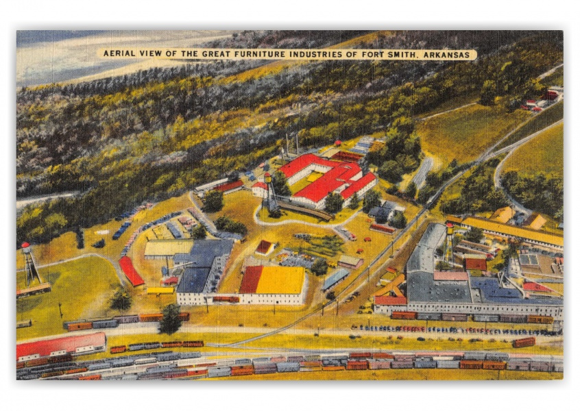 Fort Smith, Arkansas, aerial view The Great Furniture Industries