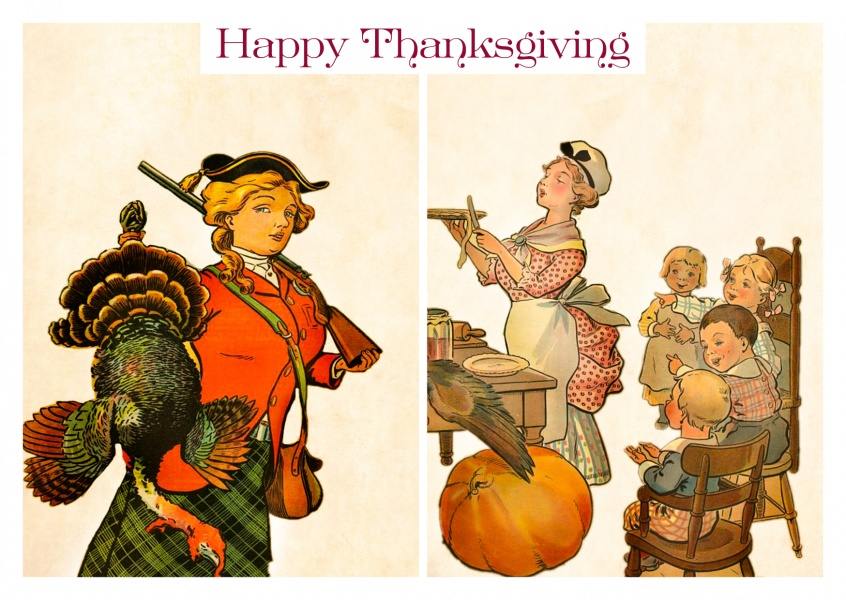 Illustration vintage Thanksgiving