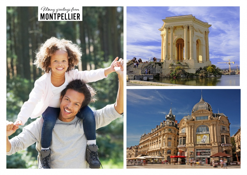 Montpellier collage with two photos