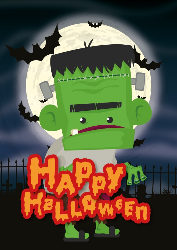 Happy halloween with Frankensteins monster