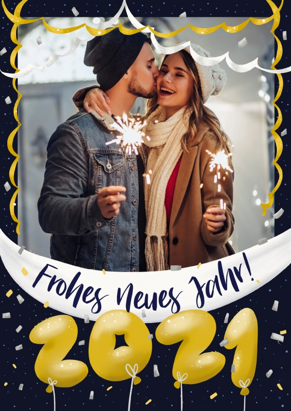 GREETING ARTS Frohes Neues Jahr 2021