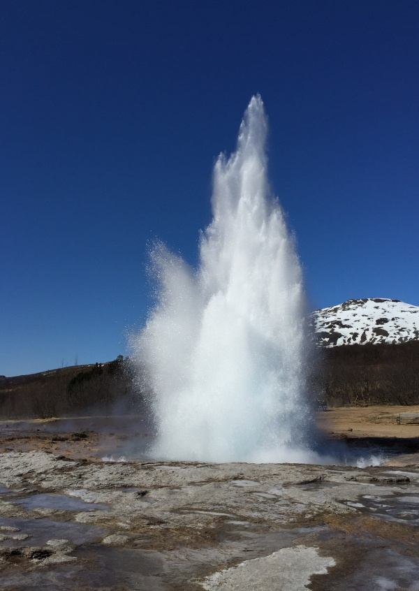 Photo geysir iceland