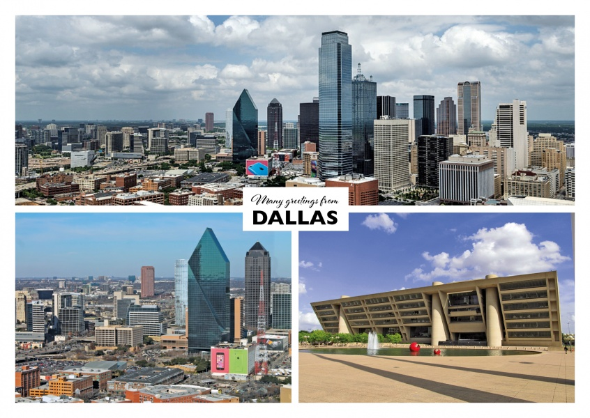 Dallas' skyline and skyscrapers