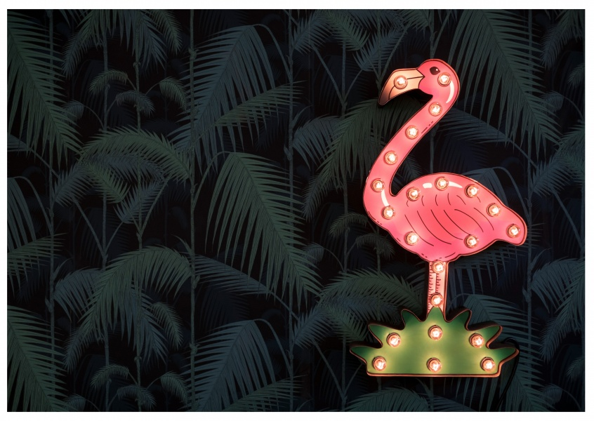 photo neon sign flamingo