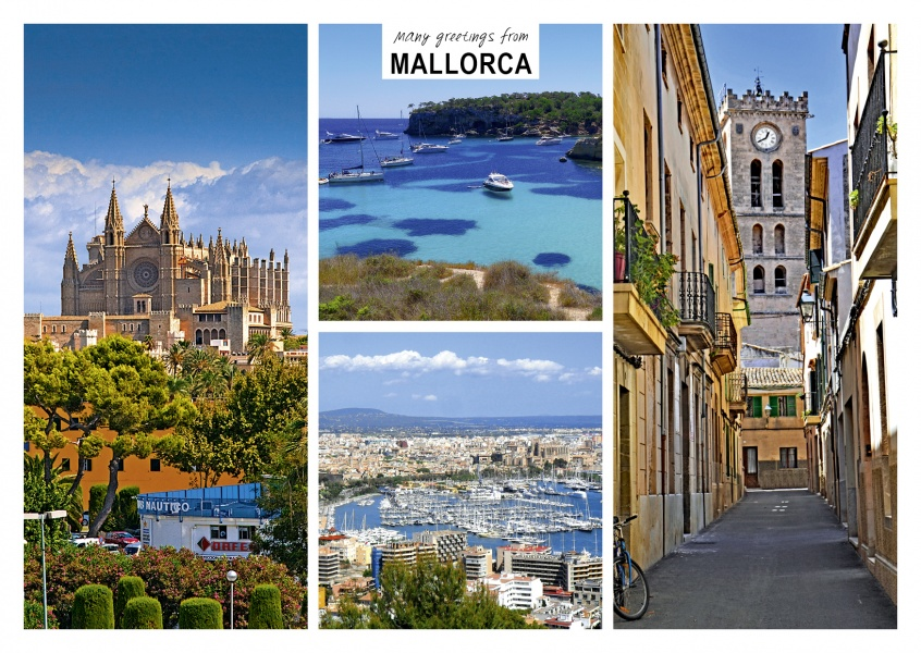 Mallorca's beaches, ports, cathedrals and alleys in four photos