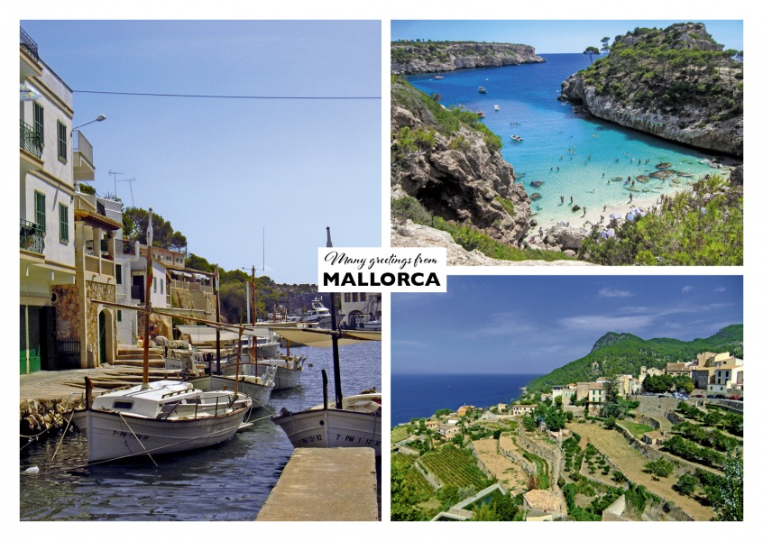 Mallorca's coast and beach landscape in three photos