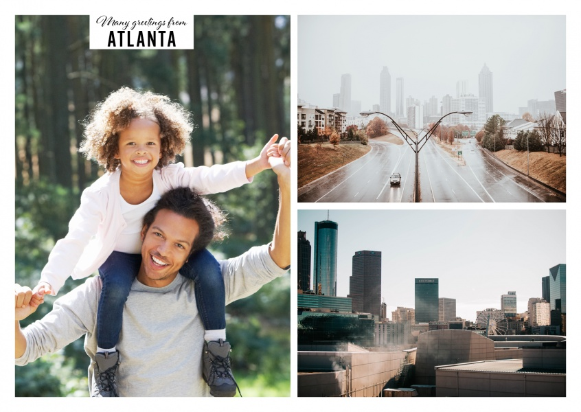 Collage of Atlanta's city skyline