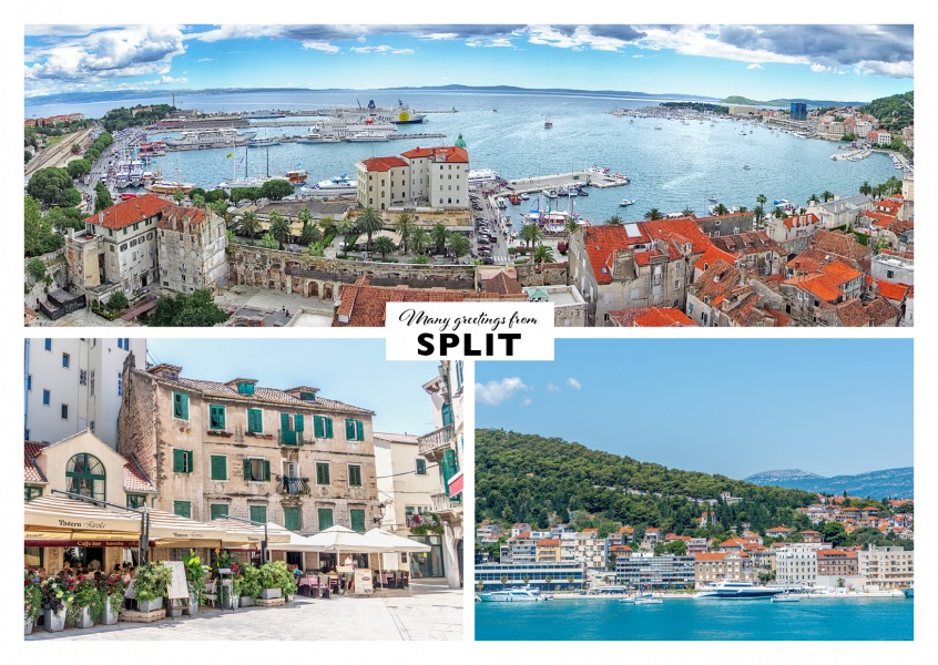 Split's landscapes - city harbour and forts