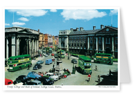 The John Hinde Archive photo Trinity College and Bank of Ireland, Dublin