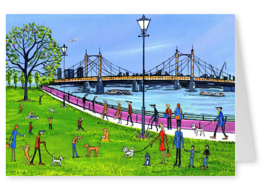 Illustration South London Artist Dan Albert Bridge