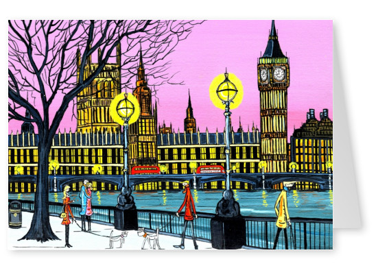 Illustration South London Artist Dan South London Artist Dan – night time London