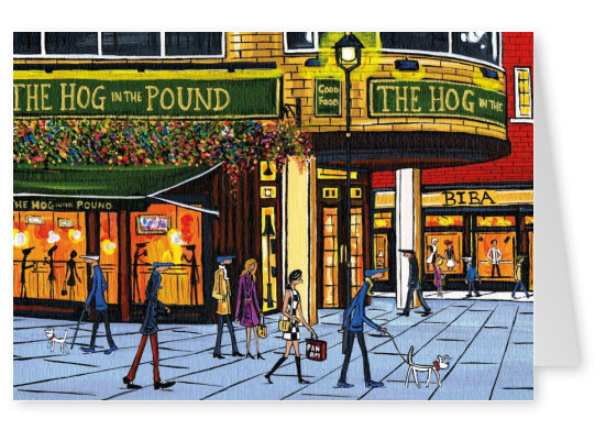 Illustration South London Artist Dan The hog in the pound ...