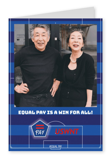 Equal Pay postcard design Life is like soccer. We need goals.