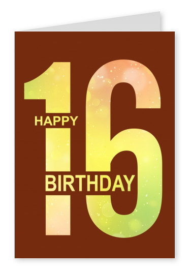 16th birthday postcard design mypostcard