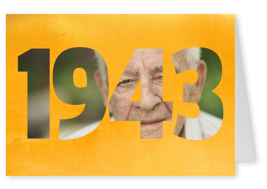 1943 on goldenbackground