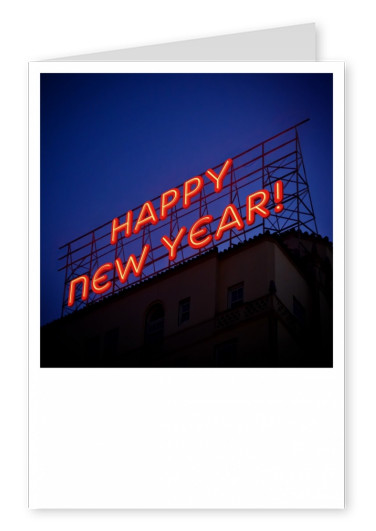 photo happy new year neon sign