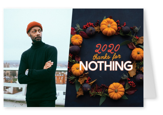 2020 - Thanks for nothing - pumpkin wreath underneath