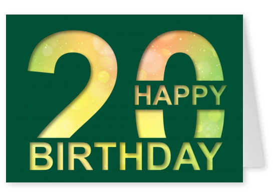 20 Years Birthday Cards Send Real Postcards Online