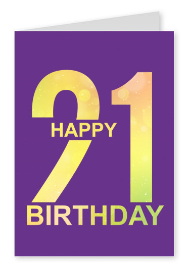 21th birthday postcard design mypostcard