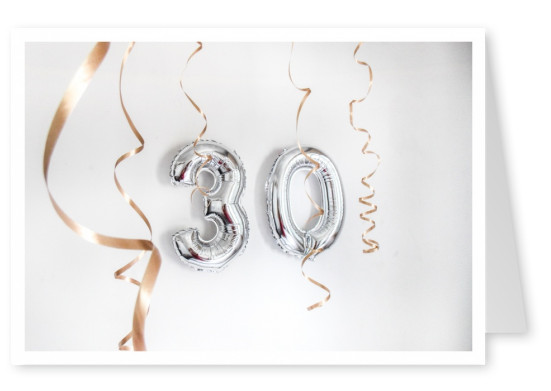 photo balloon no.30 silver
