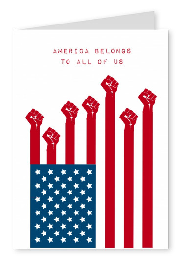 card with American flag