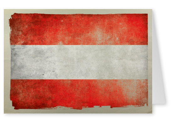 Postcard with flag of Austria