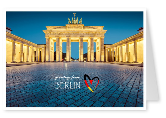 Berlin – Brandenburger Tor - Greetings from Berlin