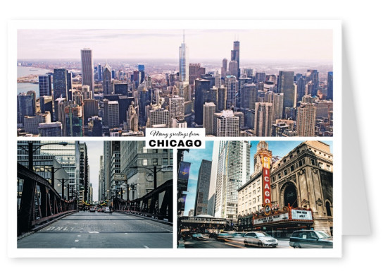 Chicago says hello - Greetings from Chicago Postcard