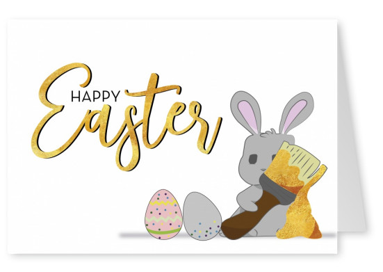 postcard saying Happy Easter