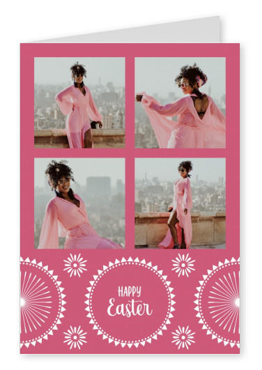 Happy Easter soft red, pattern