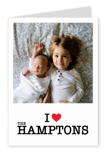template with I love Hamptons sign