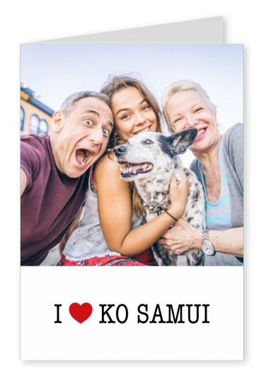 template with I love Ko Samui sign