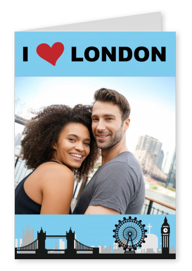template with London silhouette